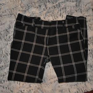 window paneled black slacks size 0
